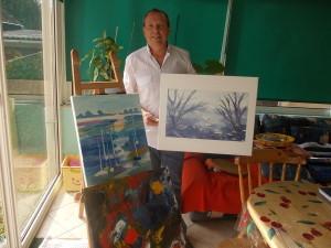 Eric Baudet, qui habite Saint-Gaultier, a participé dernièrement au 7e salon artistique européen.