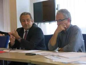Gérard Bobier (à gauche), avec Gilles Langlo, le président national de la fédération des directeurs de CFA.
