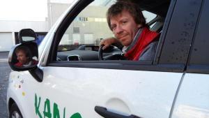 Christophe Beauger, hier salarié, aujourd'hui pilote de la Scop Kangouroute. (Photo NR).