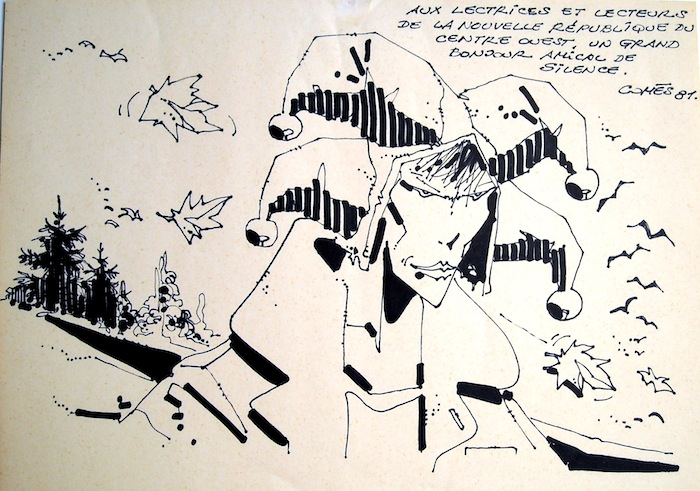 Quand en janvier 1981, Didier Comès est désigné meilleur album pour Silence, sa disponibilité, sa gentillesse naturelle et son art du conte, lui valent d'emblée l'admiration du public et celle des médias. D'autant qu'il se livre volontiers au petit jeu des dédicaces dont celle-ci, qui contient, du coup, sa part d'émotion…