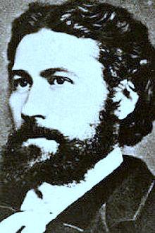 Portait d'Emile Gaboriau, écrivain né à Saujon et mort à Paris. Son Inspecteur Lecoq deviendra un mythe.