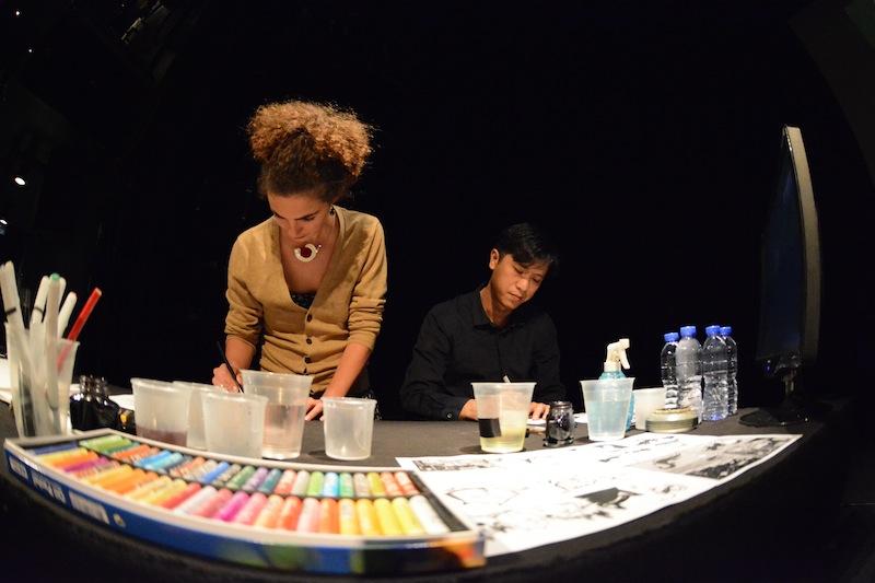 Mathilde Domecq et Siuhak lors de la répétition du deuxième concert à Hong Kong. (Photo Nicolas Albert)
