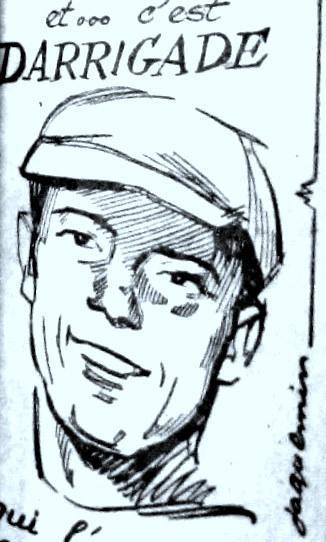 Darrigade, le sprinter qui gagnera sur la piste du vélodrome de Tours en 1957 par Jacquemin …