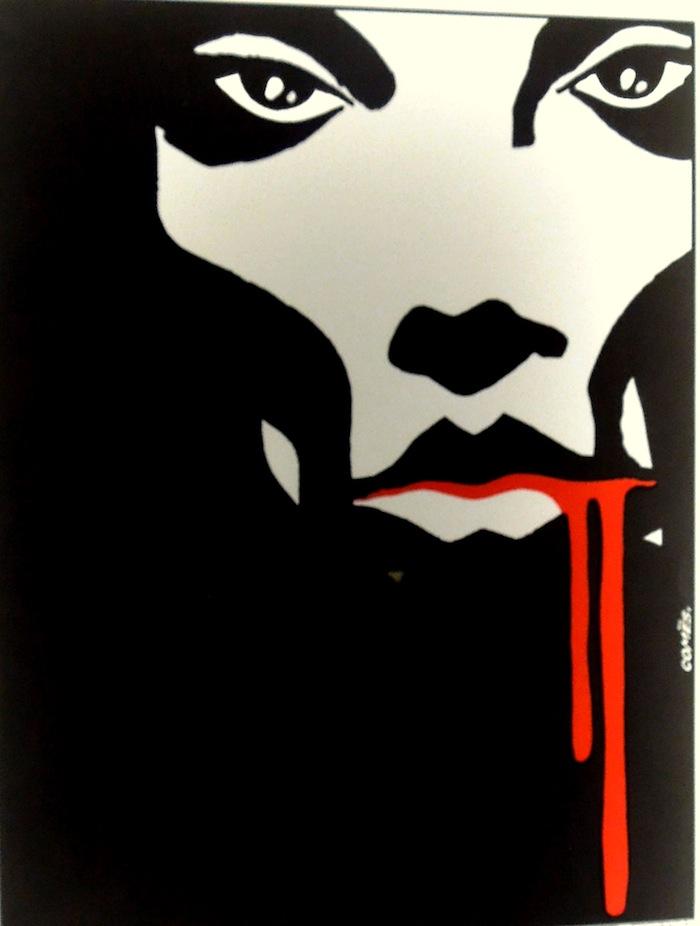Affiche d'un festival du film fantastique et d'horreur. Brrr !