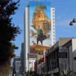Giant Tintin billboard
