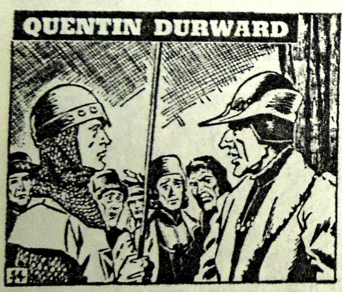 Face-à-face, Quentin Durward et le roi de France avec son célèbre chapeau pointu (et le nez qui va avec).