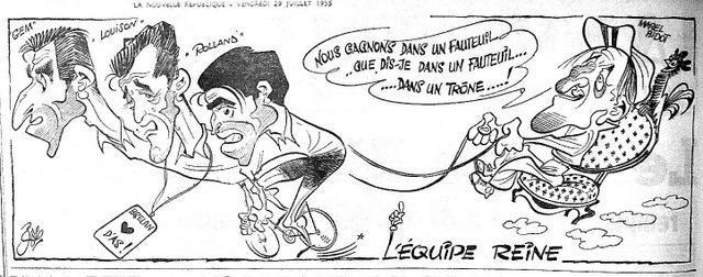 Pierre Rollot, dit Siro, l'une des figures incontournables du dessin omnisport pendant des années. Mais c'est pendant le Tour de France qu'il donnait le meilleur de lui-même. Son style caractéristique, tout en angle mais d'une justesse parfaite a très longtemps animé les bas de pages sportives de la NR.