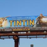 Tintin movie motorcycle billboard