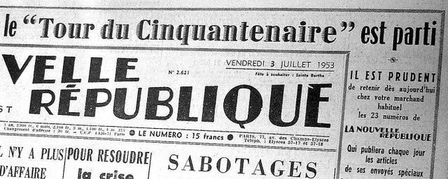 Pour ce tour du Cinquantenaire, la Nouvelle République a mis les petits plats dans les grands : déjà l'annonce quasi-triomphale du départ…