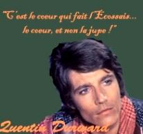 « C'est le cœur qui fait l'Ecossais, le cœur et non la jupe », dit ce sous-titre sur le (beau, mais oui !) visage de Amadeus l'Allemand.