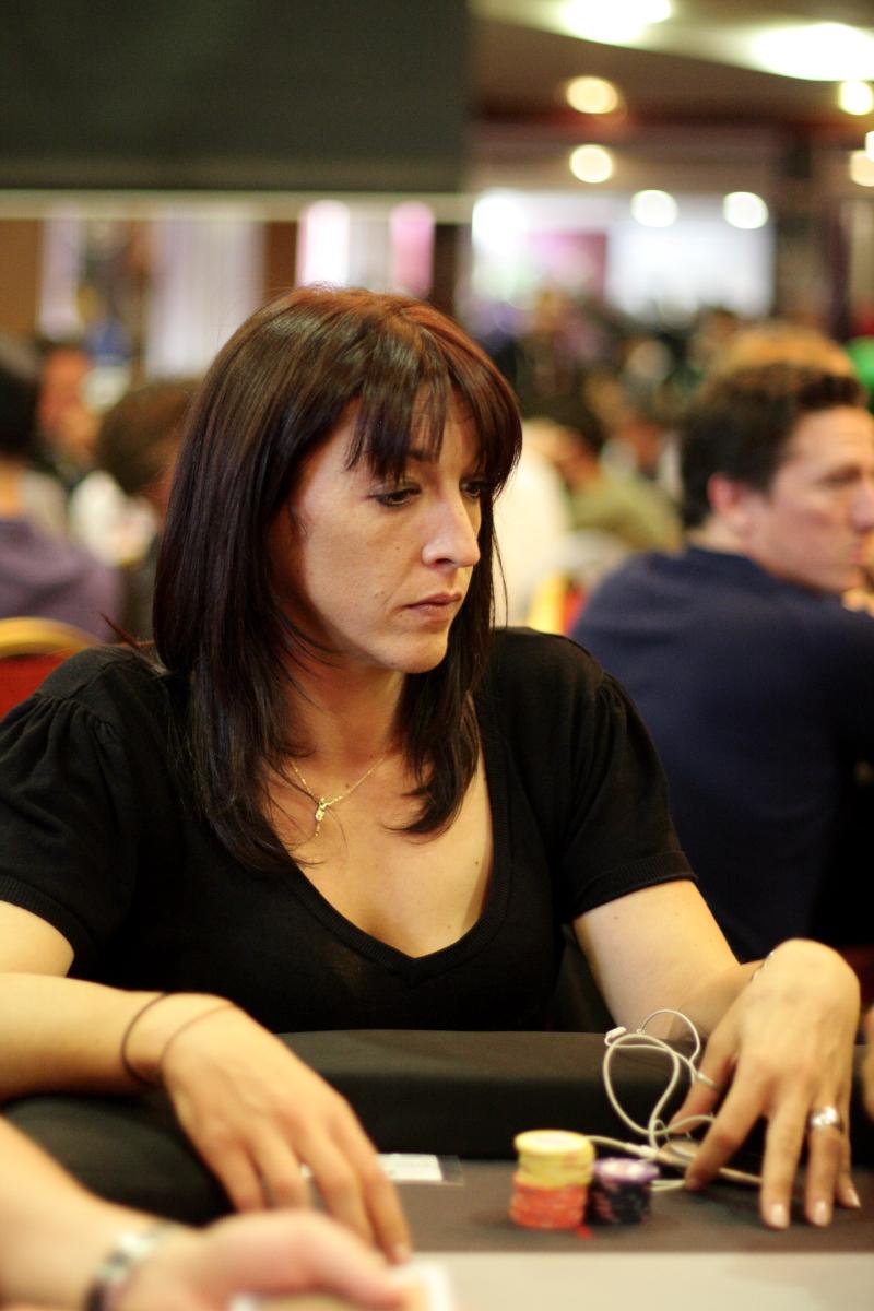 Marie Loyher au Winamax Poker Open de Dublin  (Photo Ronan Bouillot)