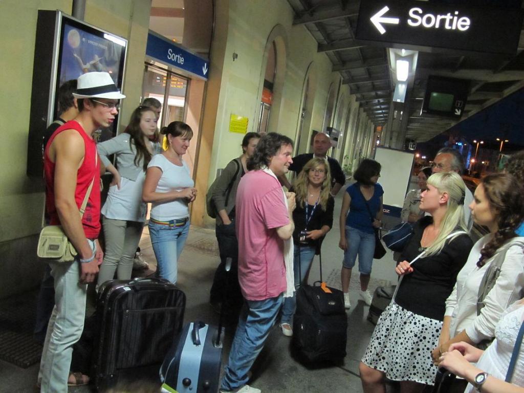 Les stagiaires russes sont arrivés en gare de Châteauroux ce samedi soir vers 22 heures