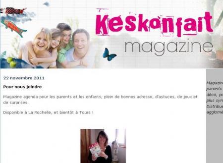 La page d'accueil du site Keskonfait