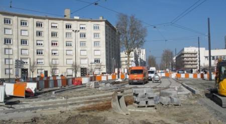 Au carrefour de Verdun, des aménagements ont été réalisés en vue d'une possible interconnexion avec une deuxième ligne de tramway.