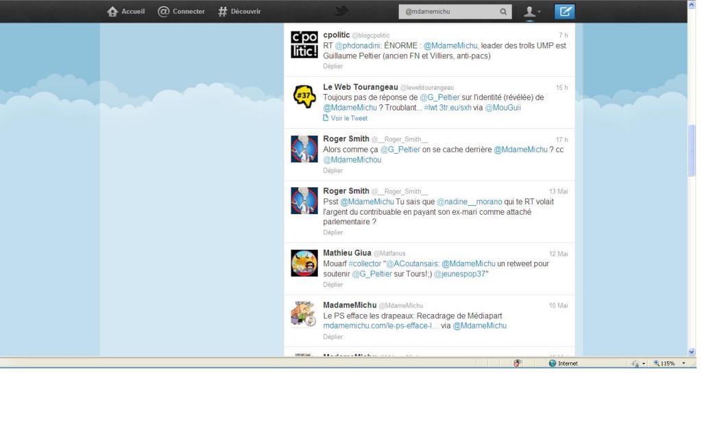 Capture d'écran effectuée sur Twitter, aujourd'hui, à 16h15.