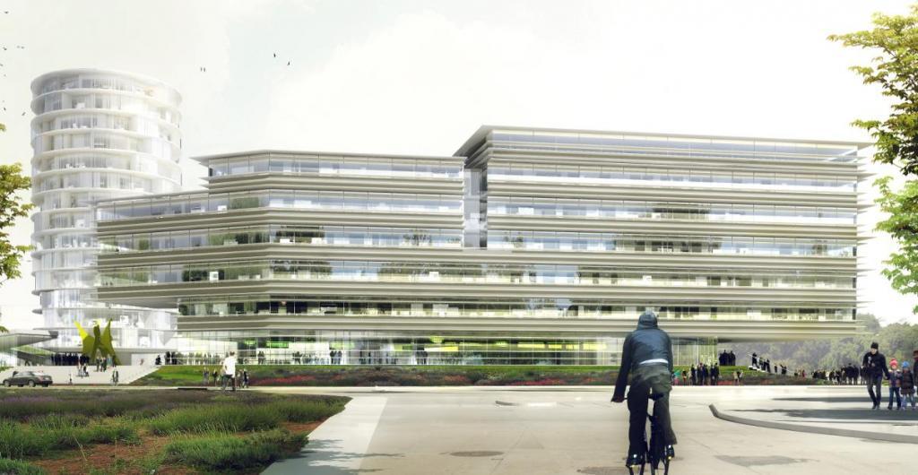 EDF installera ses directions régionales commerciales et immobilière dans ce bâtiment de 9.500 m2 (Document Jacques Ferrier Architectes).