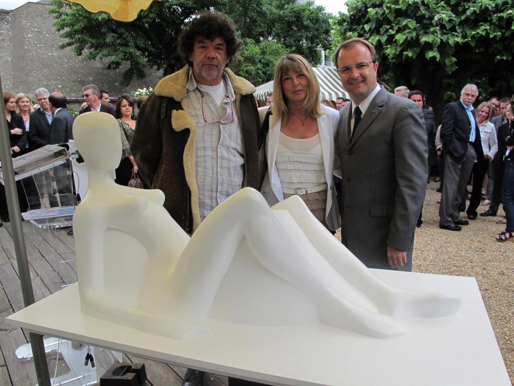 Le projet de Michel Audiard (à gauche) est soutenu par plusieurs mécènes privés dont Citya, l'entreprise de Philippe Briand dont le directeur général est Frédéric Chaminade (à droite sur cette photo)