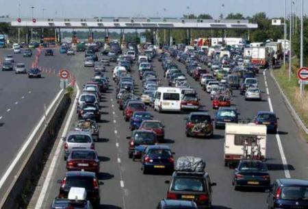L'autoroute A10, péage de Monnaie en Indre-et-Loire