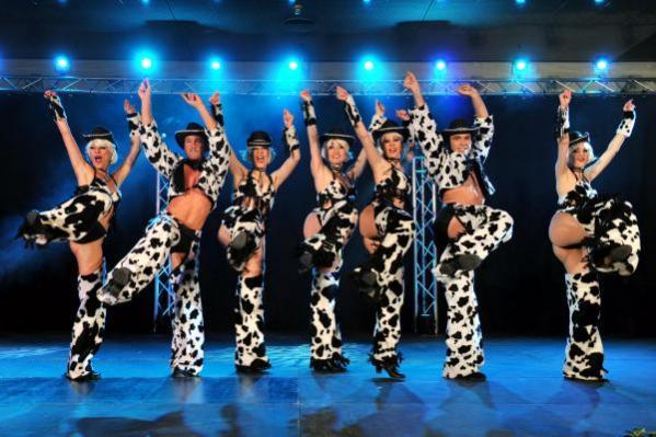 Les danseuses d'une troupe parisienne ont assuré le spectacle