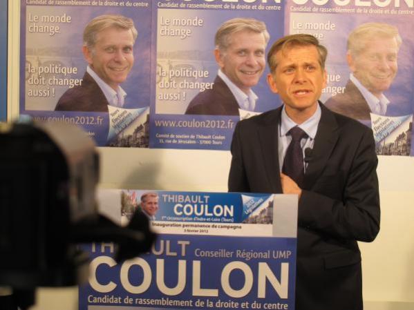 Thibault Coulon, candidat dissident de l'UMP aux législatives à Tours, et opposant déclaré au projet de Femme Loire