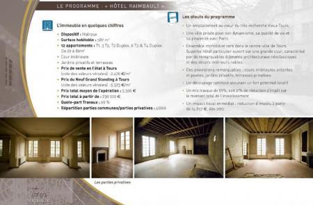 Le programme prévisionnel de l'hôtel Raimbault.