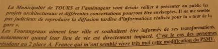 """Le commissaire enquêteur cite le """" mauvais exemple """" de la tour de la gare de Tours"""
