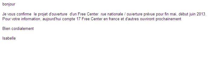 REPONSE ILIAD FREE CENTER TOURS