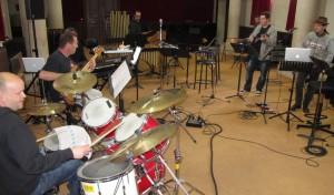Une partie du groupe du projet Zappa réuni par Vincent Milleret (batterie)