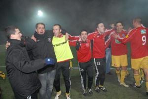 Les joueurs de Chauvigny fêtent leur qualification