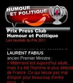 Le Press club a décerné ses prix Humour et politique 2011.