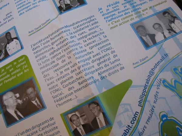 Le tract électoral de Philippe Raboit pour la campagne de 2008.