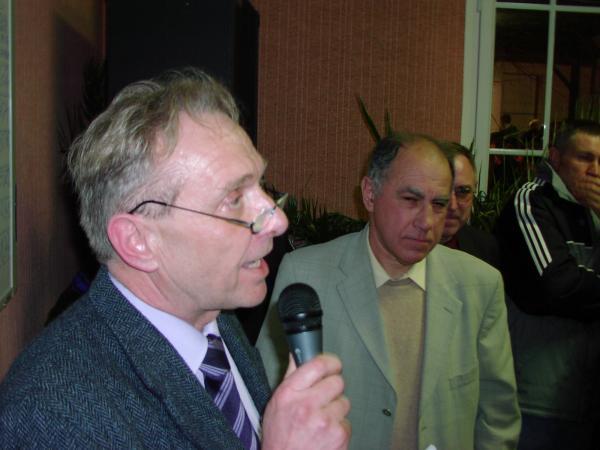 Christian Michaud au micro et Bernard Rimbeau