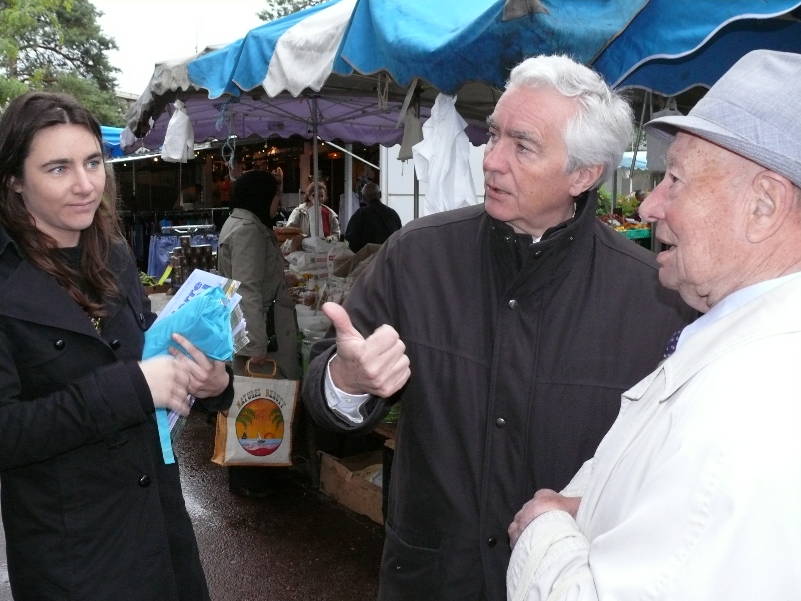 Jean-Pierre Abelin en campagne des legislatives en 2007